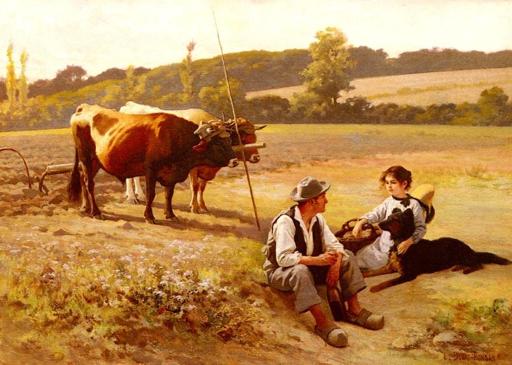 Rest In The Fields by Edouard Bernard Debat Ponsan