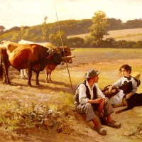 Rest In The Fields by Edouard Bernard Debat Ponsan