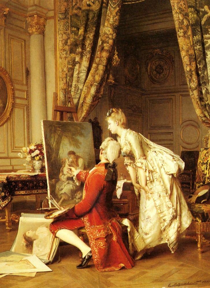The Artist and his Admirer by Emile Pierre Metzmacher