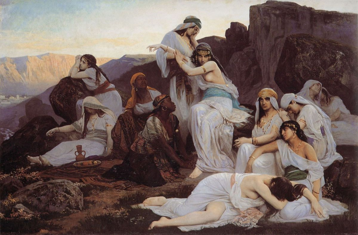 The Daughter of Jephthah by Edouard Bernard Debat Ponsan