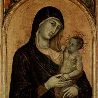 Madonna and Child with Six Angels by Duccio di Buoninsegna