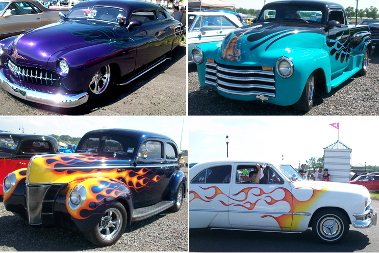 Syracuse Nationals - Cars with Flames