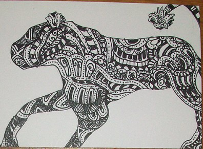 Zentangle Animal - Lioness