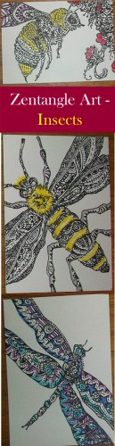 Zentangle Artist Trading Cards - Insects