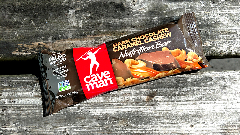 Caveman Dark Chocolate Caramel Cashew Nutrition Bar