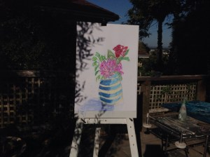 Vase 1 Outside by Tracey Bastian