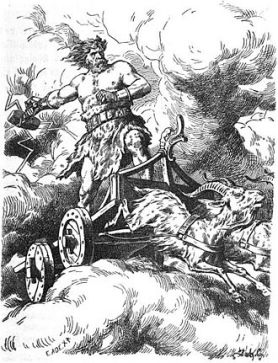 Thor's Wagon pulled by his two goats
