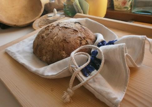 vrecko na chlebík z domáceho plátna