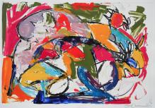 """Genie Castro 2013 Oil ink monotype 27 ½"""" x 38"""""""