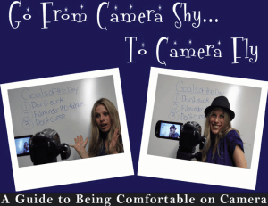 e-book cover about Being Comfortable on Camera