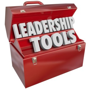 Toolbox with the words Leadership Tools