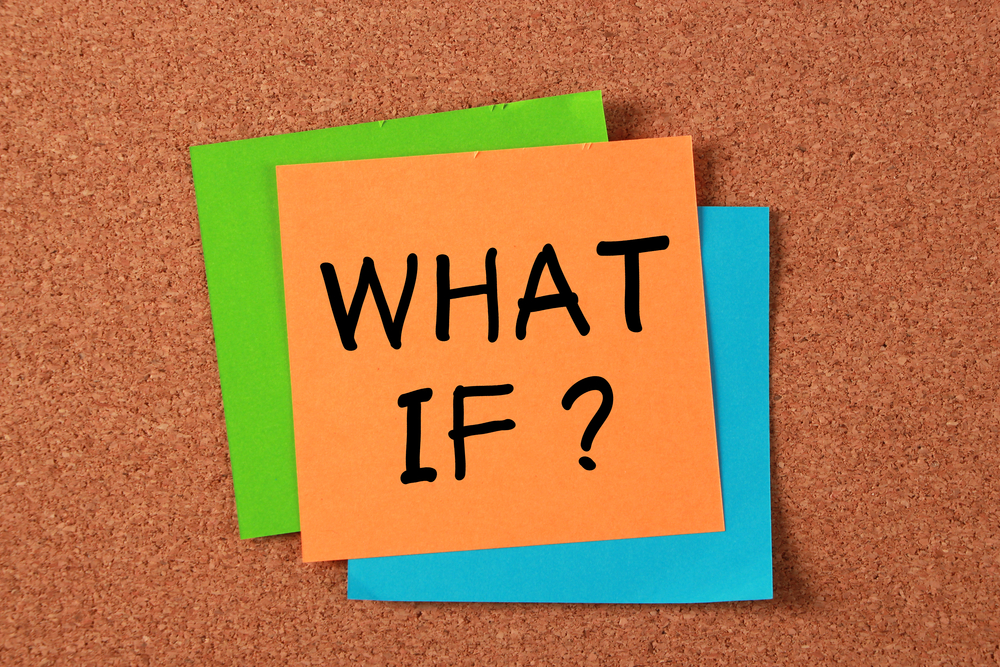 "Orange sticky note with ""What If?"" on it"