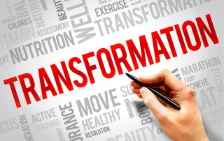 word cloud featuring the word: transformation