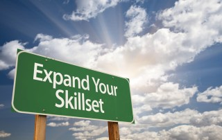 "Road Sign that says, ""Expand Your Skillset"""