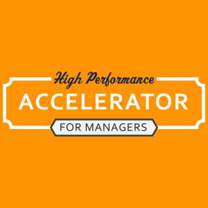 Image with text: High Performance Accelerator for Managers