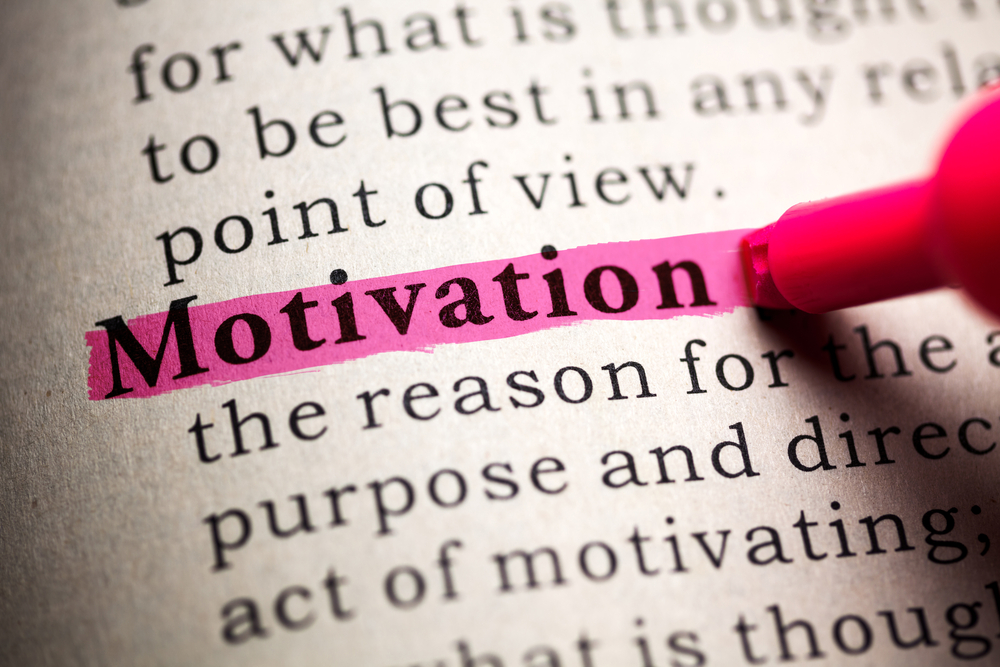 Dictionary image of the definition of the word: motivation