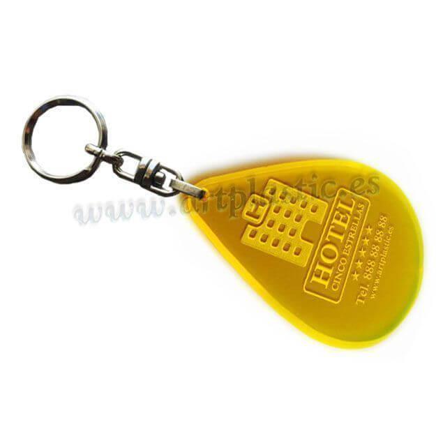 llavero personalizado para hoteles amarillo-b