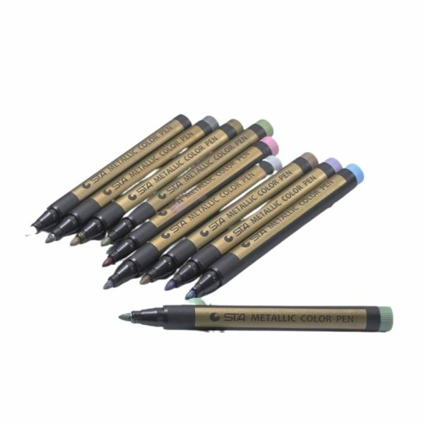 Metallic Marker Pens 10 Colors