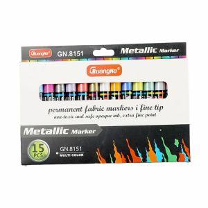 Set Metal color Oil-based Paint Marker Pens 3.0mm 15 Colors