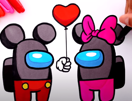 FireShot Capture 363 How to draw AMONG US Mickey and Minnie Mouse YouTube www.youtube.com
