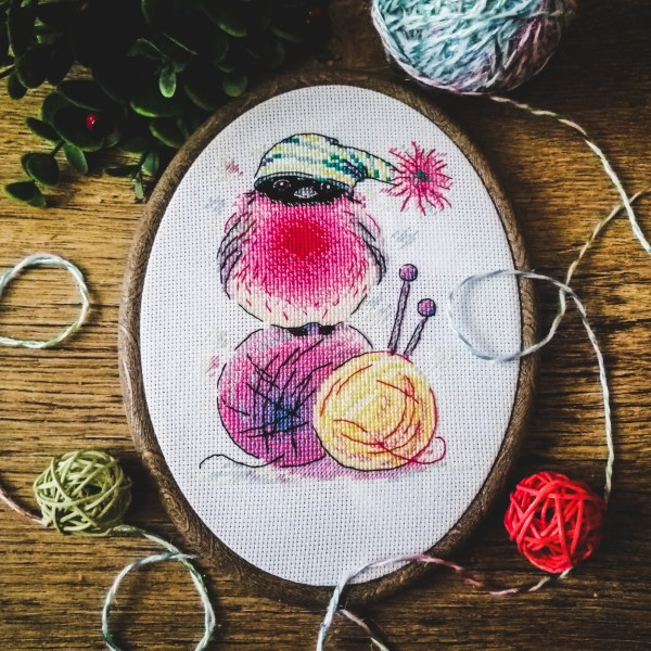 "Handmade embroidery ""Feathered Tangle"""