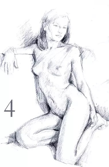 How to draw a naked girl