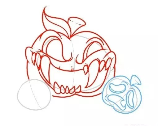 how to draw a pumpkin easy