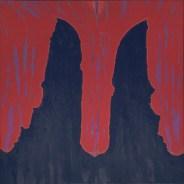 John DePuy. Horns of Minos, Crete, 1972. Oil on canvas; 64 x 64 in.