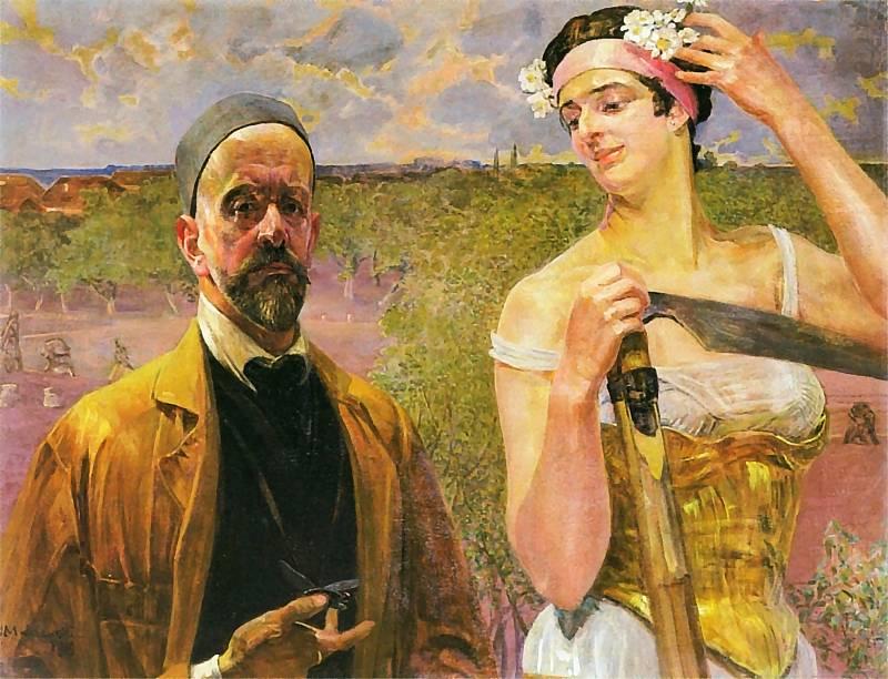 Jacek Malczewski: Autoportrait avec Thanatos. 1919