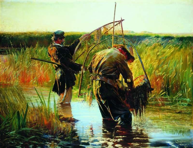 Leon Wyczółkowski: Pêcheurs (Pêche à l'écrevisse). 1891