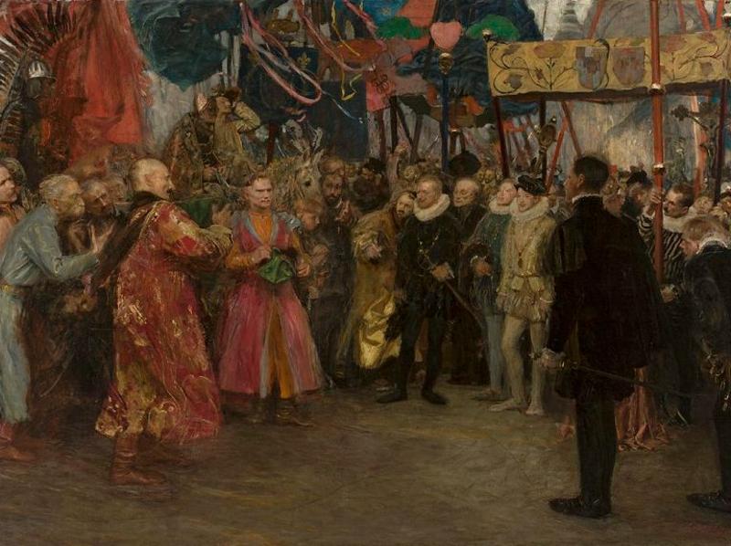 Teodor Axentowicz: Mission polonaise auprès de Henri de Valois. Deux mondes. 1910