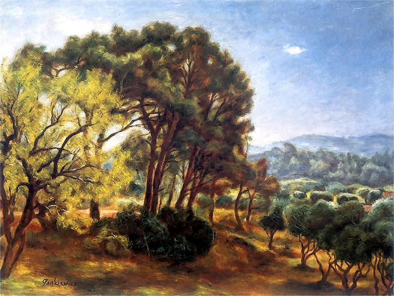 Józef Pankiewicz: Paysage de La Ciotat. Vers 1927
