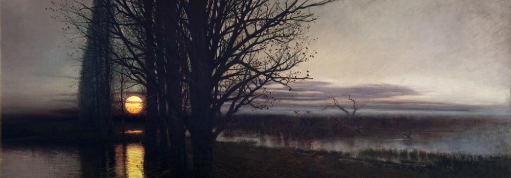 Stanisław Masłowski: Lever de lune. 1884. Détail.