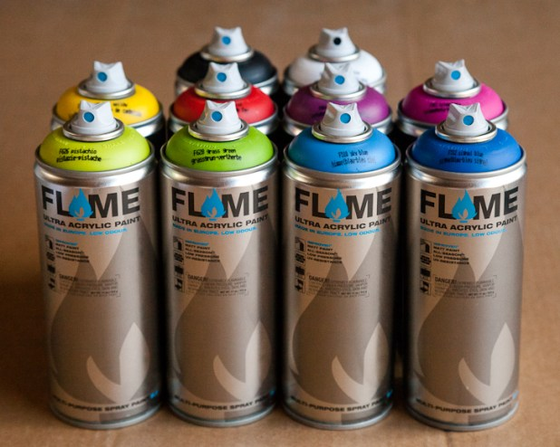 Image result for flame spray paint
