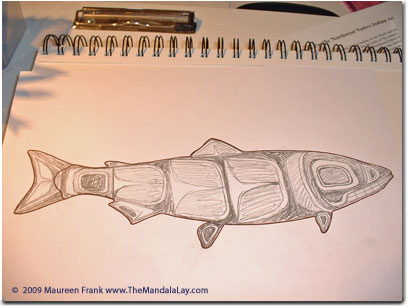 My Inuit Salmon Sketch