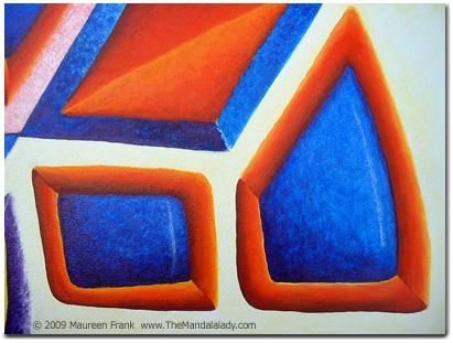 Close up of orange frames