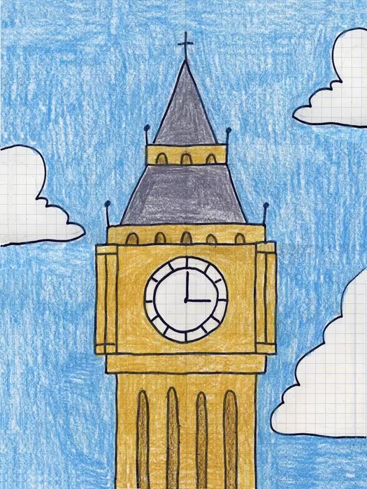 Draw Big Ben Art Projects For Kids