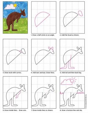Kangaroo  Art Projects for Kids