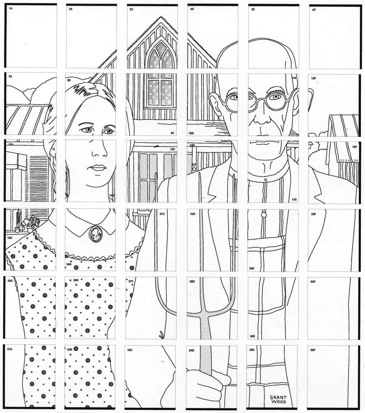 American Gothic Mural Art Projects For Kids