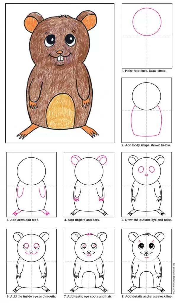 Draw A Hamster Art Projects For Kids