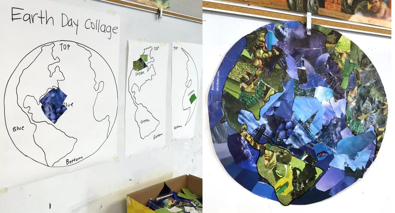 Blue Planet Collage Art Projects For Kids
