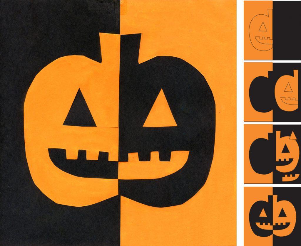 Symmetrical Pumpkin Art Projects For Kids