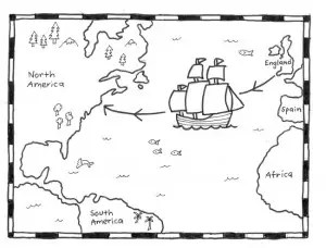 Mayflower Map b:w 650
