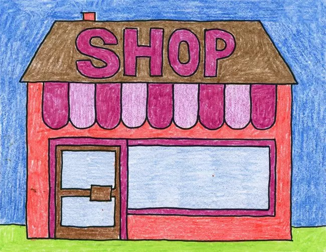 How To Draw A Store Art Projects For Kids
