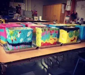 Paper Mache cartons