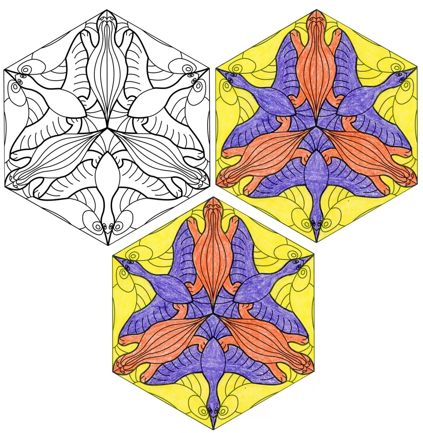Escher Animal Tessellation Art Projects For Kids
