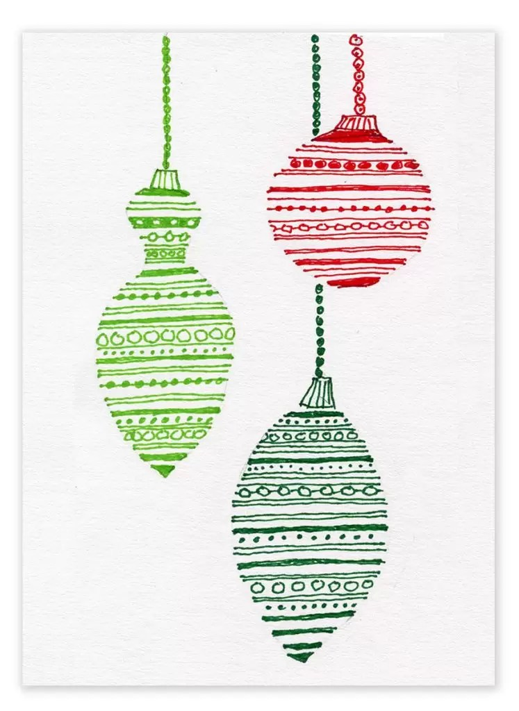Marker Drawings For Christmas Cards Art Projects For Kids