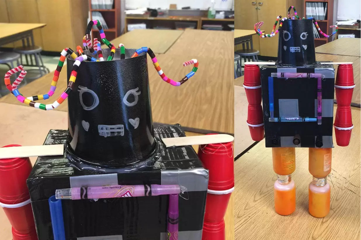 Recycled Robots Art Projects For Kids