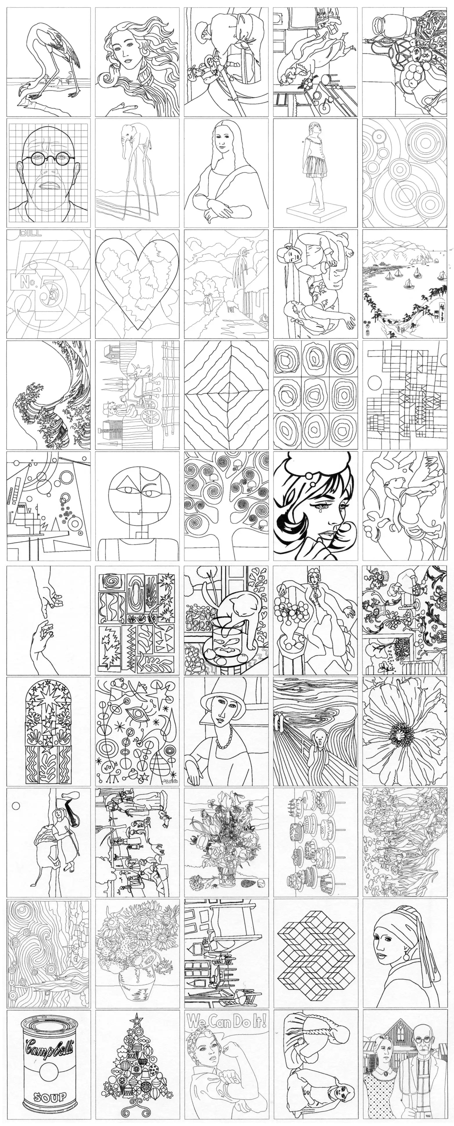 Fine Art Coloring Ebook Art Projects For Kids