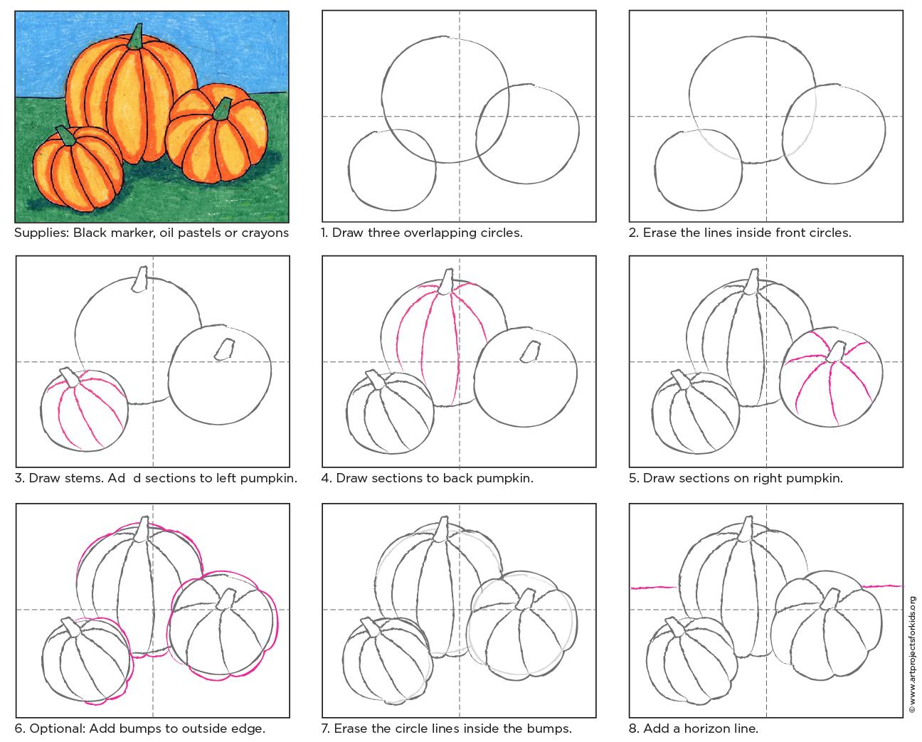 Pumpkin Drawing Art Projects For Kids